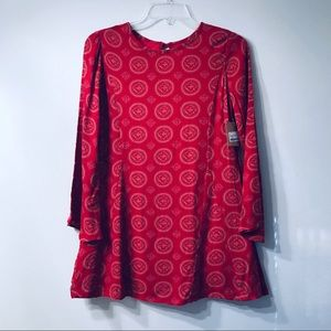 PPLA Red Georgina Dress with Gold Medallions